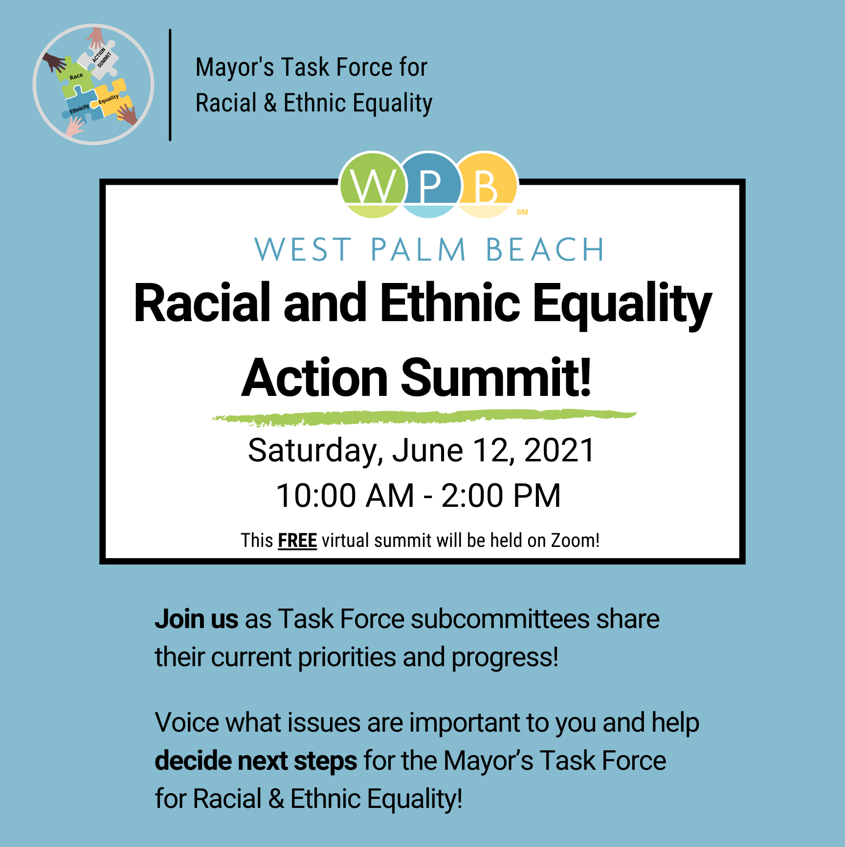 West Palm Beach Racial & Ethnic Equality Action Summit