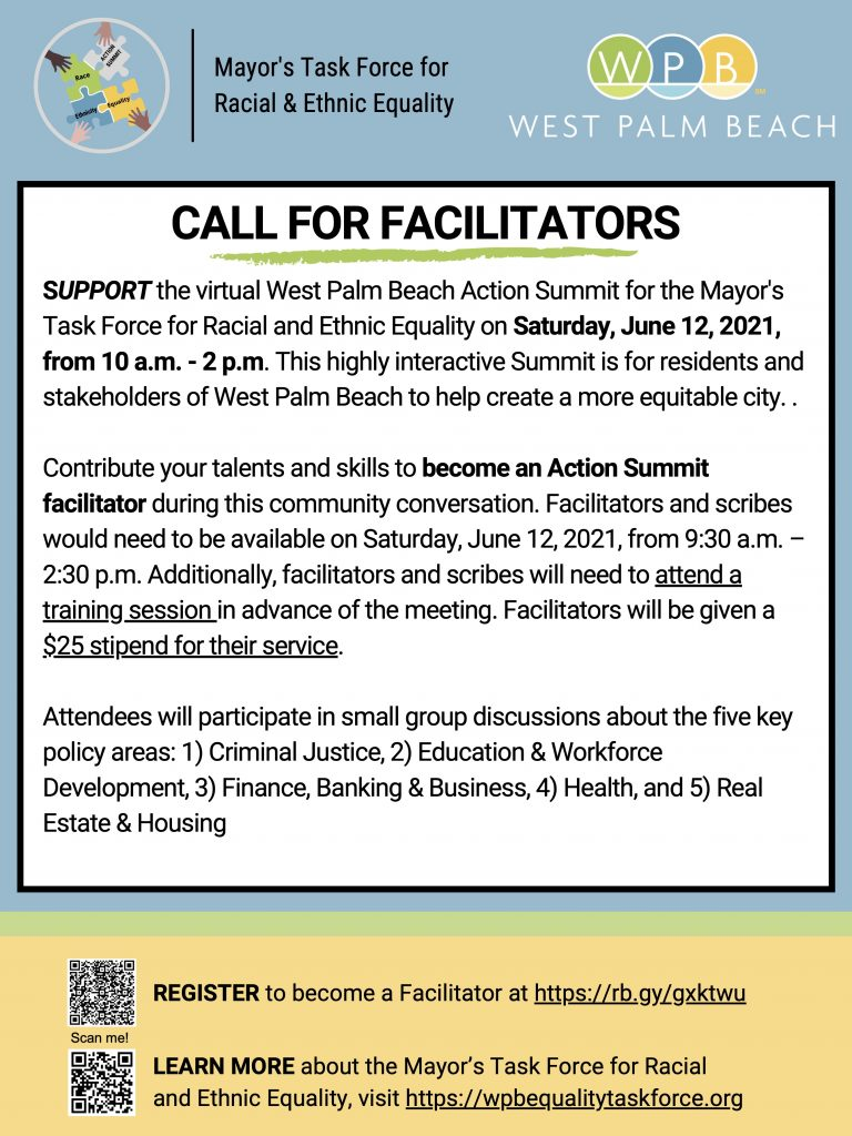 Call for Facilitators