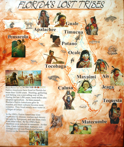 map of Florida tribes