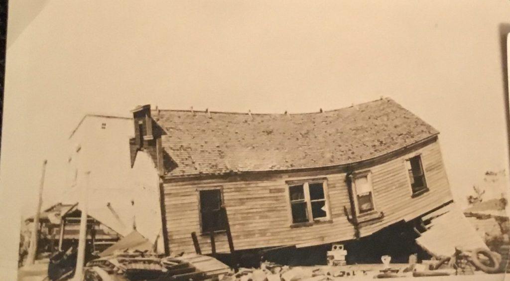 Shotgun House Destruction after 1928 Hurricane